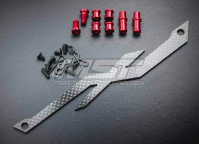 210293 XXX Adjustable carbon battery strap Colore: Silver