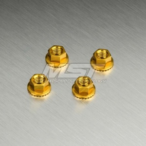820001 Alum wheel nut - M4 Colore: Gold