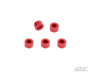 820028 Alum. spacer 3X5.5X3.0 Colore: Red