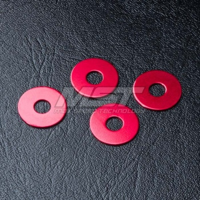 820048 Wheel hub spacer 0.5 Colore: Red