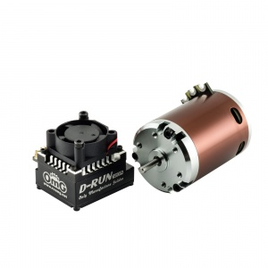 Combo D-RUN - Motor 10.5T + ESC 120A Colours: Black
