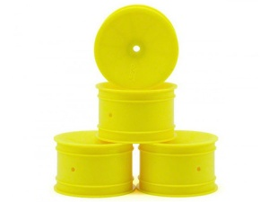 J Concepts Mono - Yellow Dished Rear 12mm Hex Wheels - 4pc