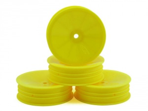 J Concepts Mono - Yellow Dished Slim 12mm Hex Front Wheels (4)