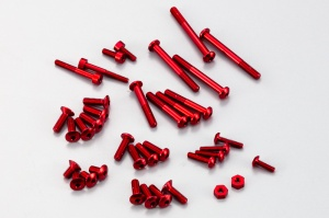 Ko Propo Alminum screw Set for EX-1 KIY RED