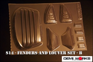 S14 Fenders and Louver set – B
