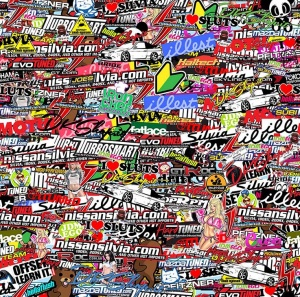 StickerBomb Removibile DKShop
