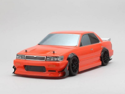 Yokomo SD-C33B - Drift Body Nissan Laurel C33 - Yukes / Team Orange (Graphic / Decal Less)