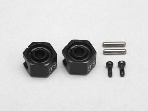 Yokomo Y2-011CB - Clamp Type Wheel Hub 8.0mm - Black (2pcs)