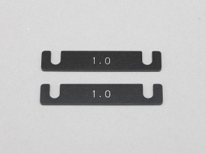 Yokomo Y2-301S - Aluminum Suspension Mount Spacer 1.0mm (2pcs)