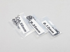 Yokomo ZC-S25 - Spacer / Shim Set φ2.5mm (0.13mm / 0.25mm / 0.50mm x 20)